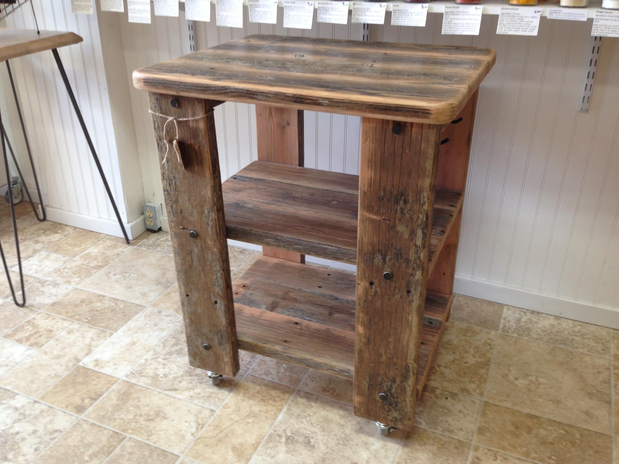 Douglas Fir river dock kitchen cart. $375