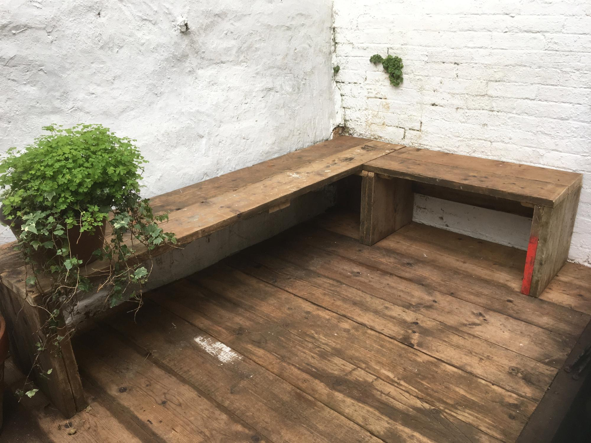 Recycled scaffold board Bench and Decking