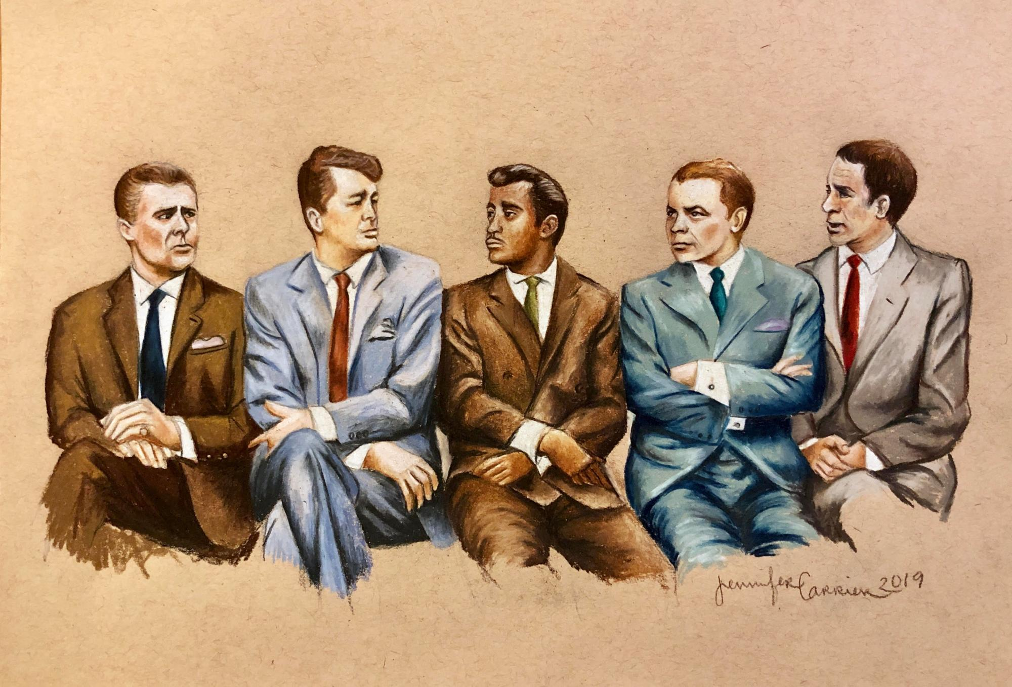 Rat Pack ,Colored Pencil on Paper