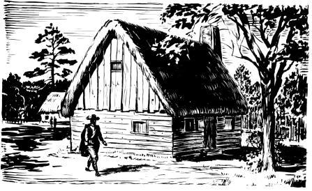 Artist Rendition of Early Settlement Houses