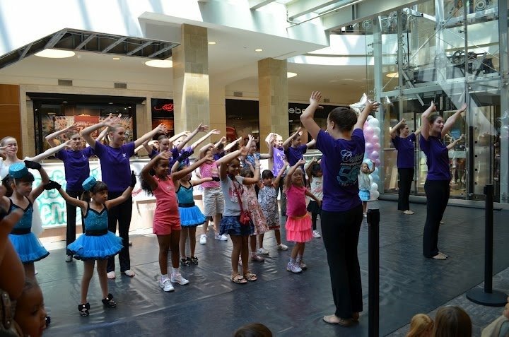 Getting a class at Tysons Corner Mall!