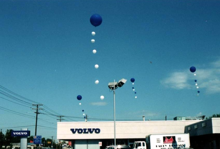 Cloudbuster balloons for Volvo dealership in Cherry Hill, N.J.