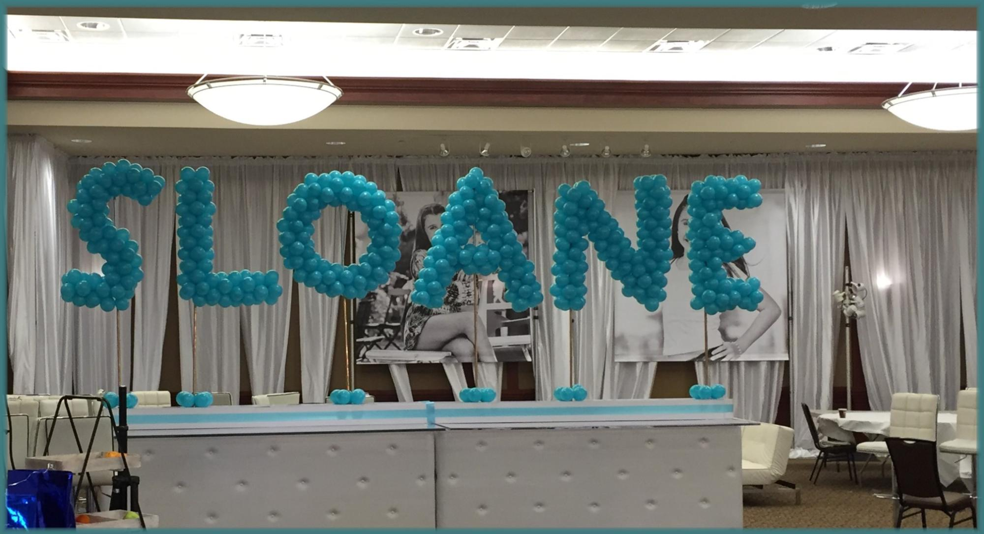 BatMitzvah balloon letters