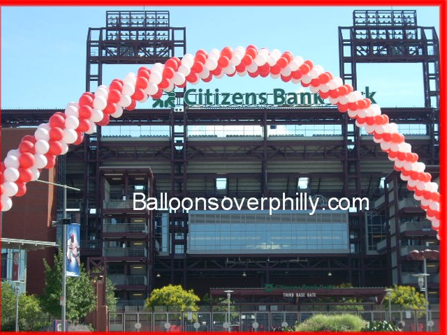 Balloon arch for fund raiser