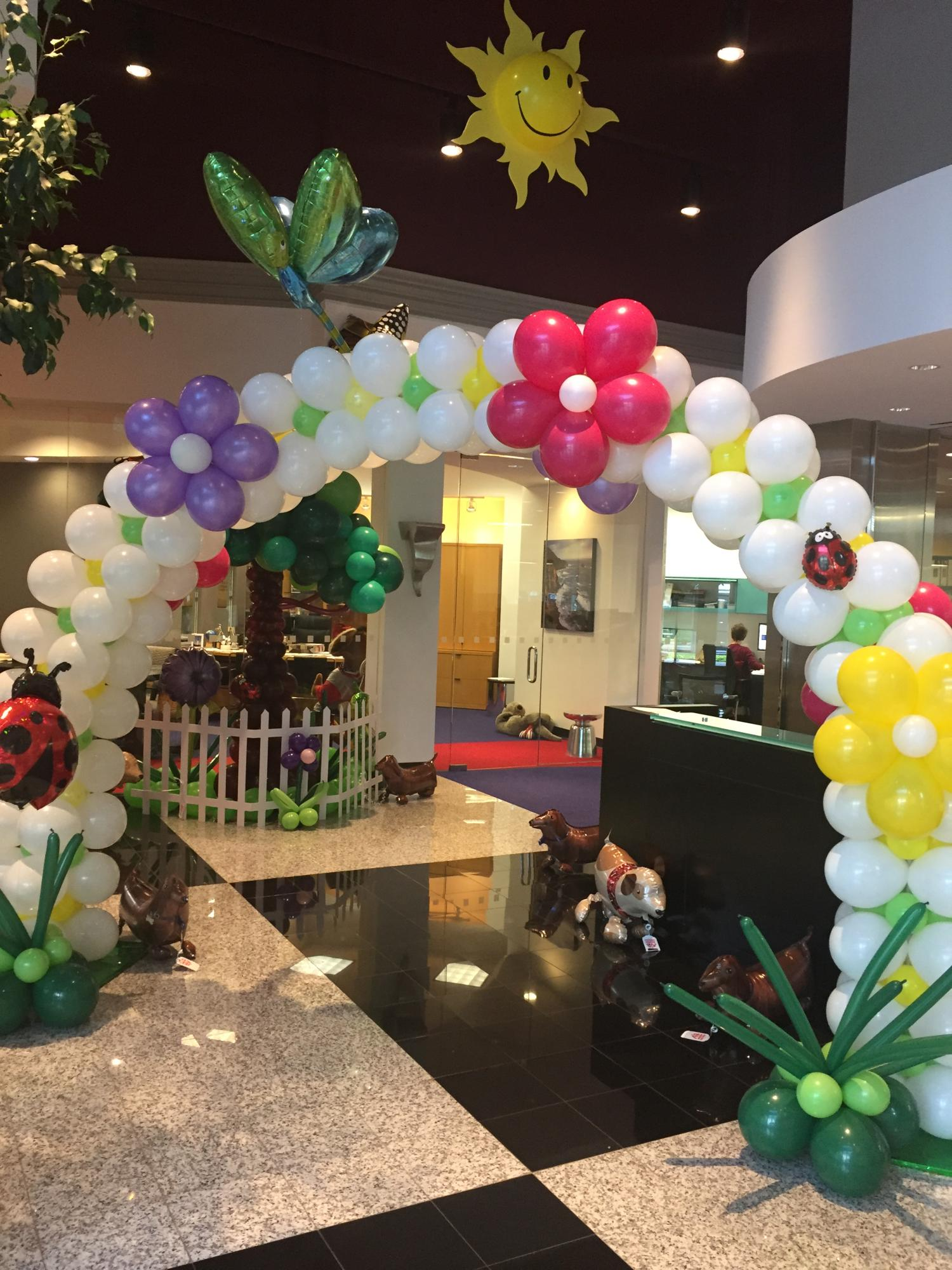 Spring fling garden party balloons