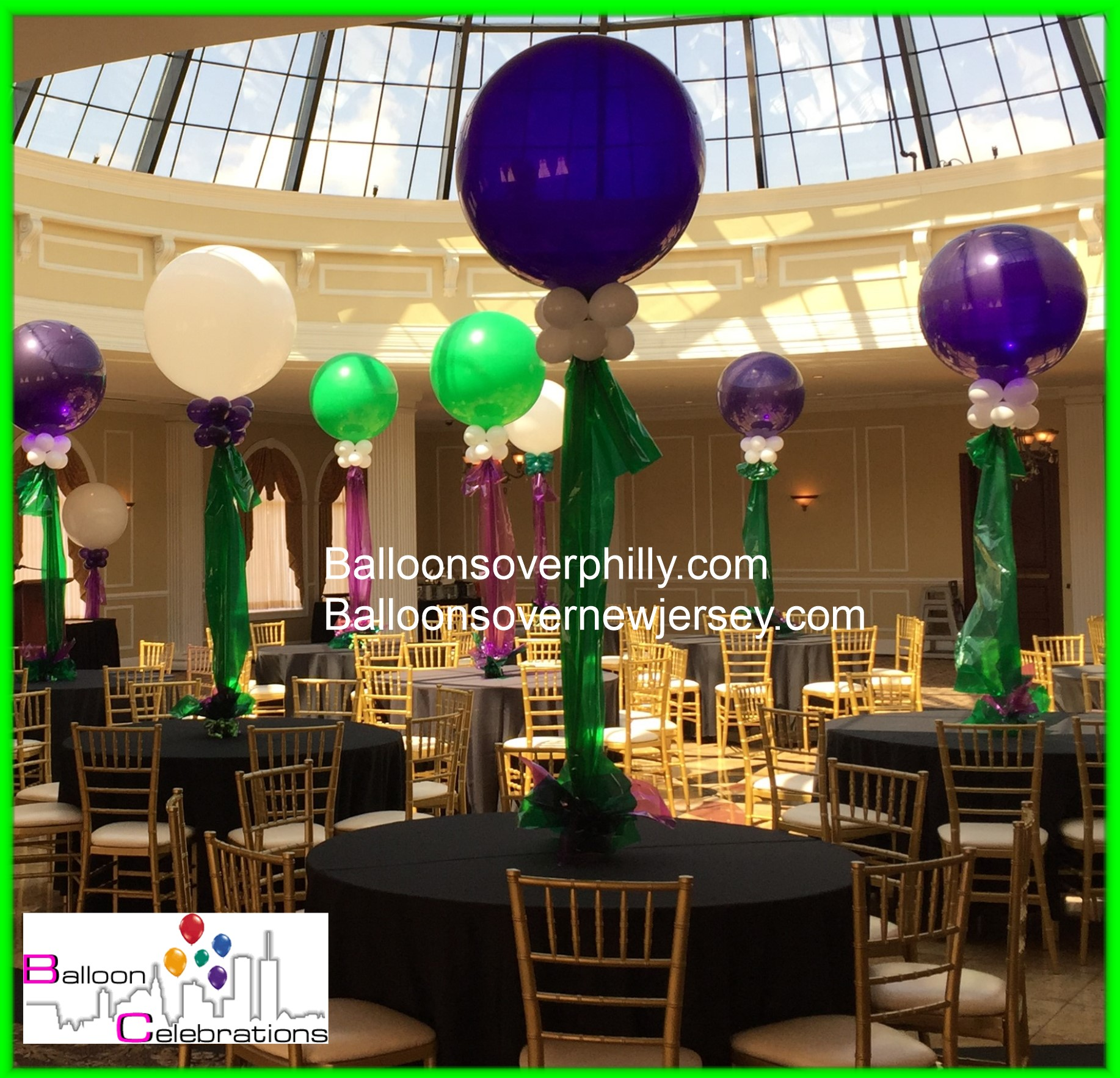 Big balloon centerpieces