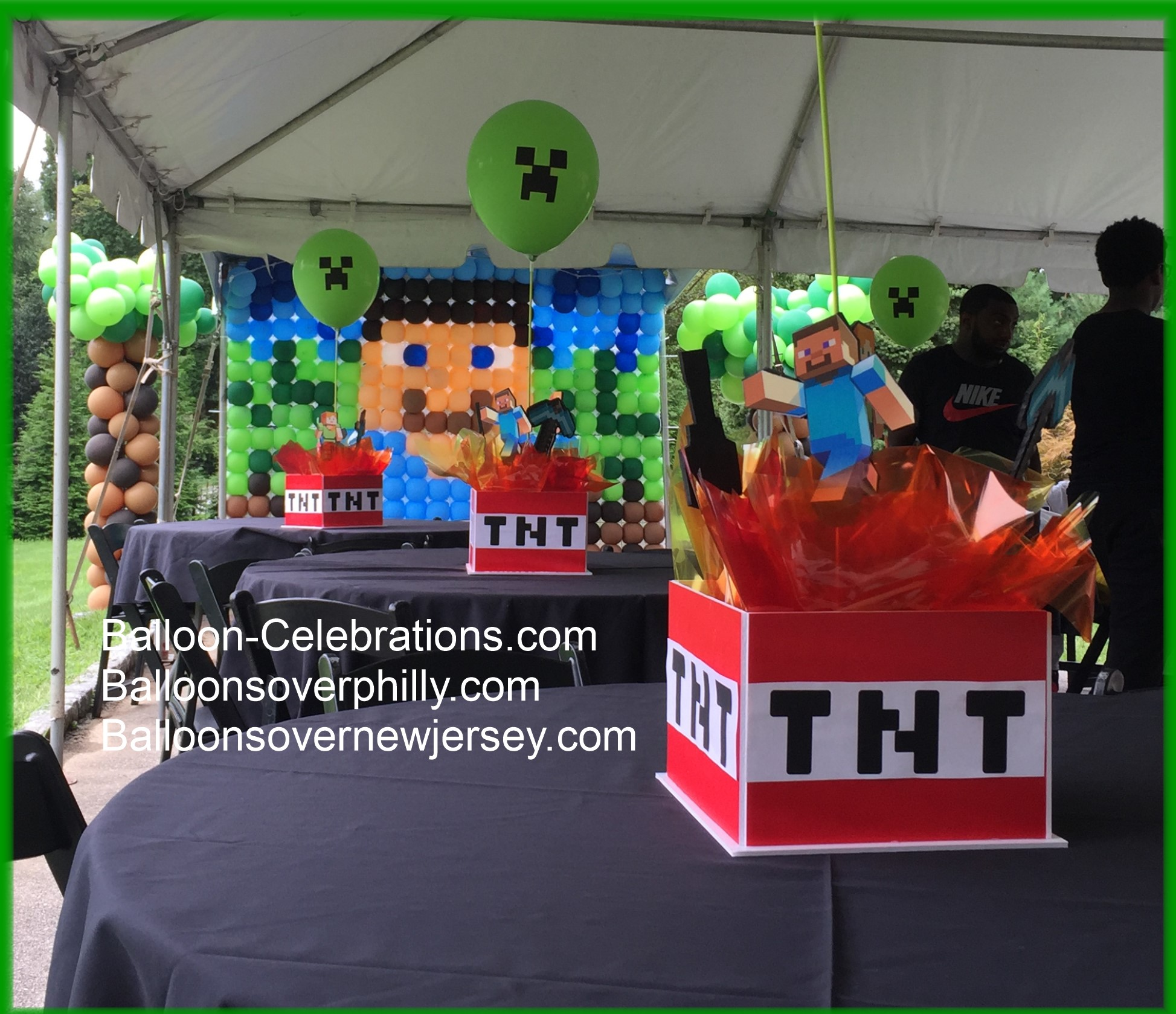Minecraft balloon birthday