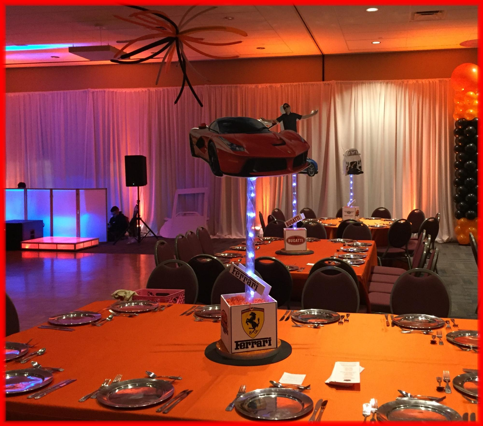 Luxury sports car Bar Mitzvah