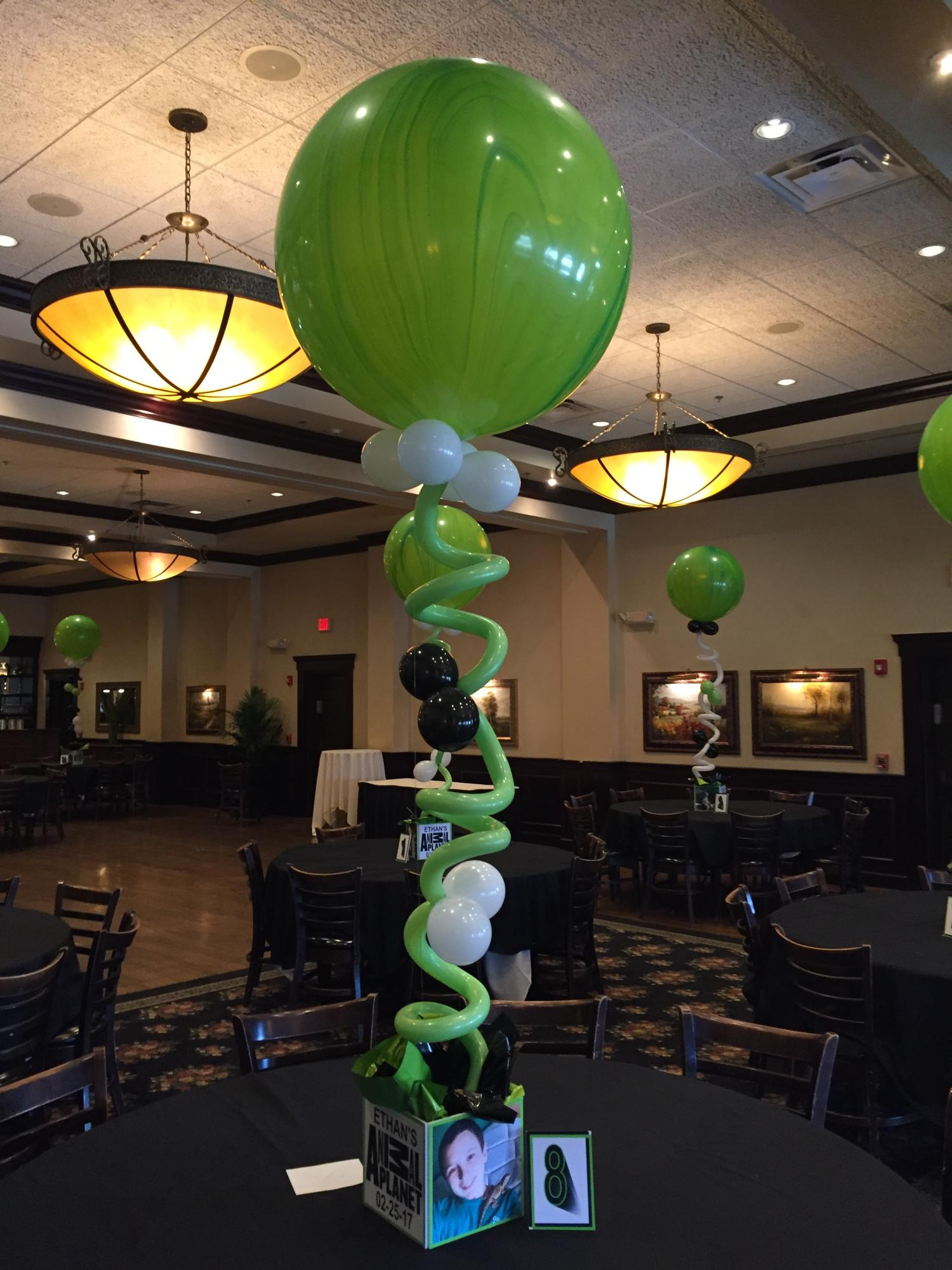 Custom balloon centerpieces