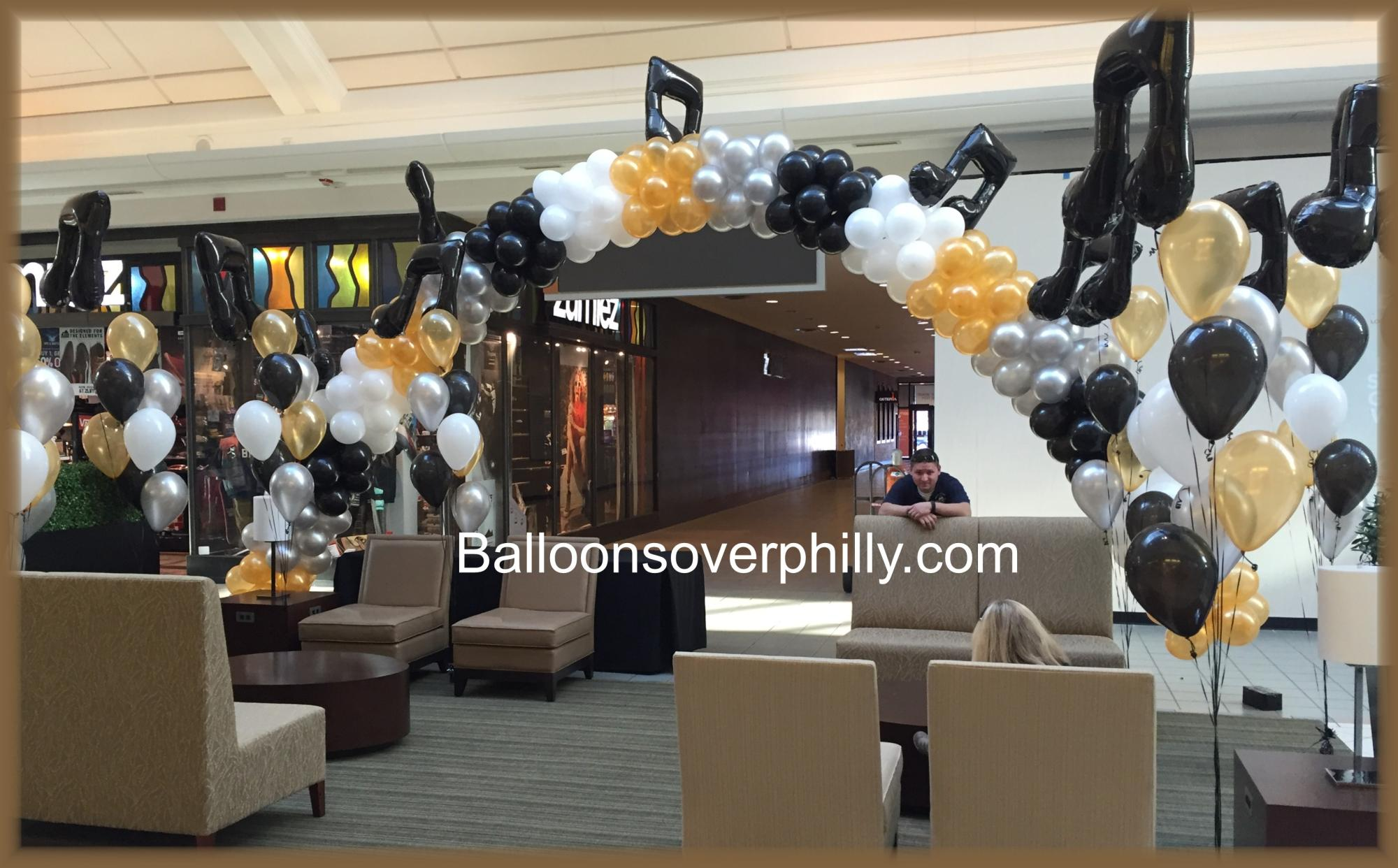 Music balloon arch