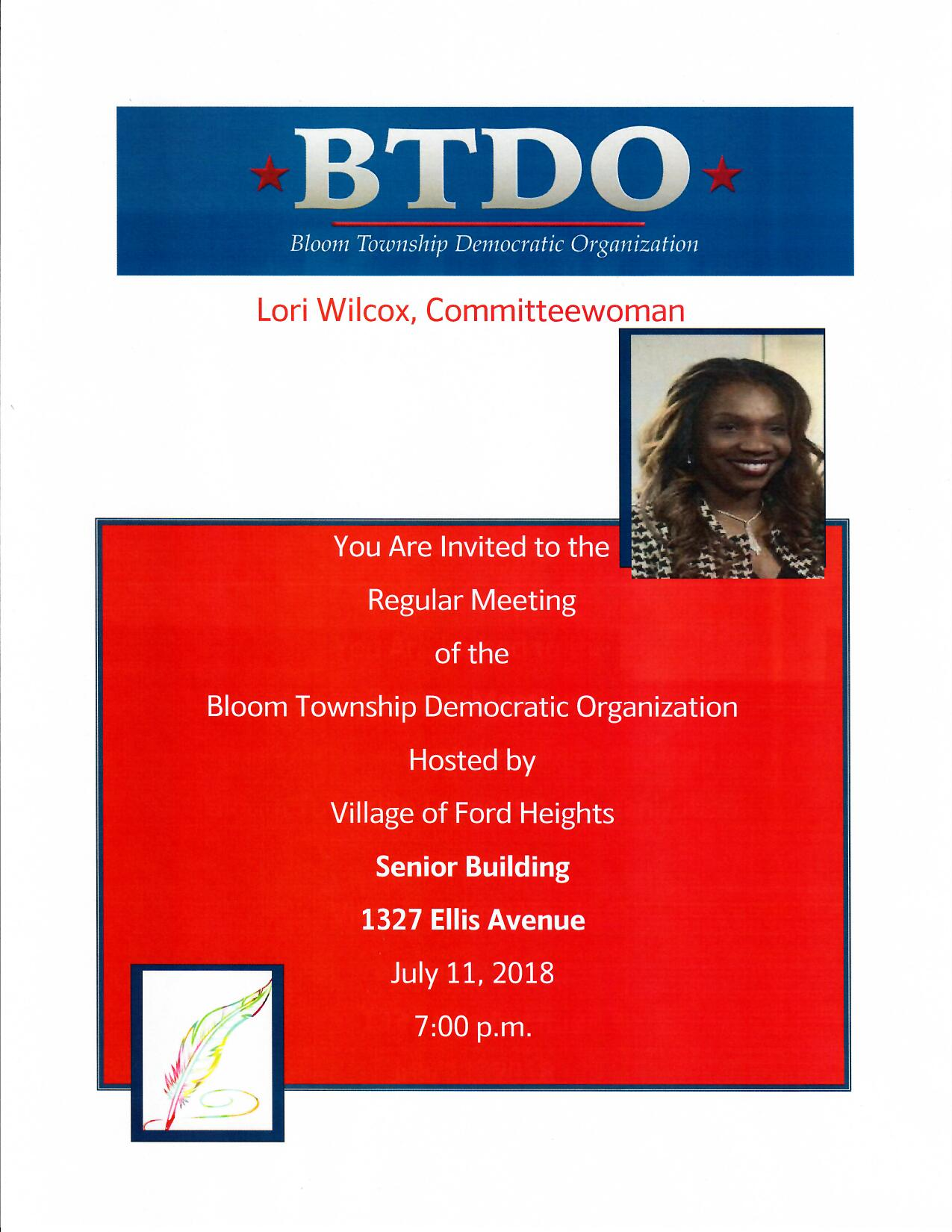 Come enjoy refreshments while chiming in on the discussion with Committewoman Mrs. Lori Wilcox as she shares her vision.