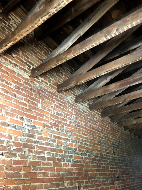 Exposed Brick and Rafters