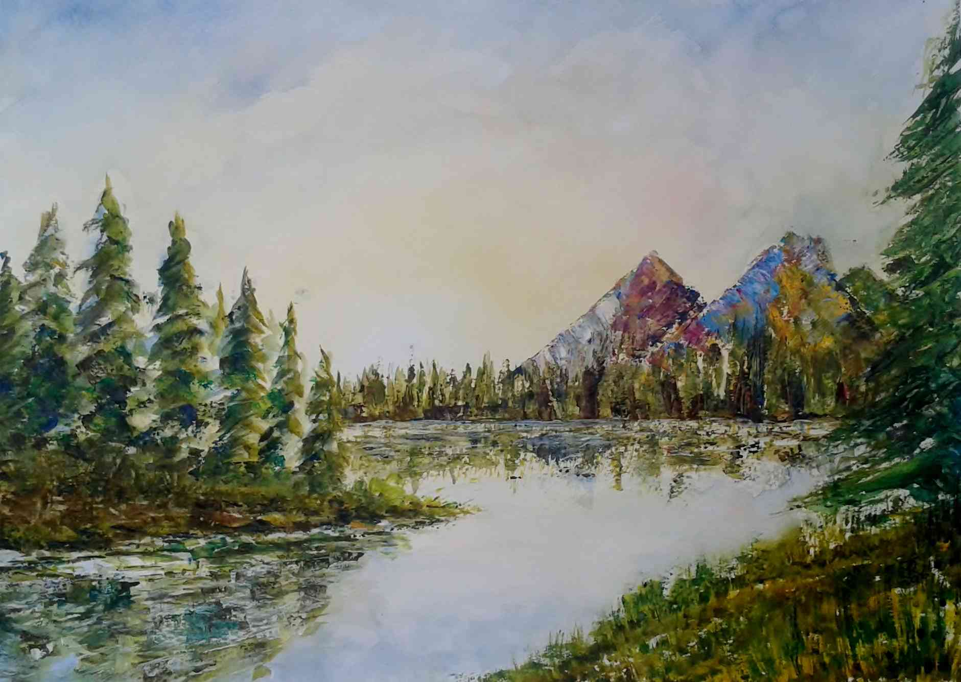 """REFLECTIONS OF CANADIAN WILDERNESS"" £85 (UF)"