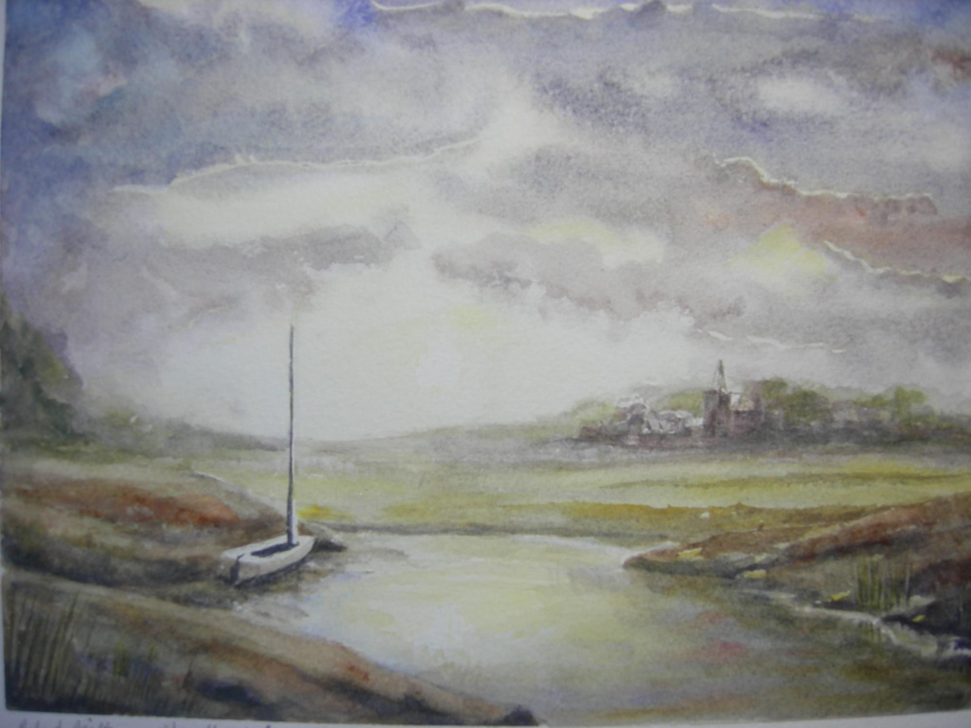 """CHICHESTER FROM SEABROOK""£135 ((Framed)"