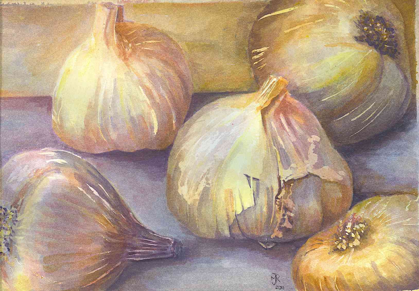 """GARLIC, I"" £185 (Framed)"