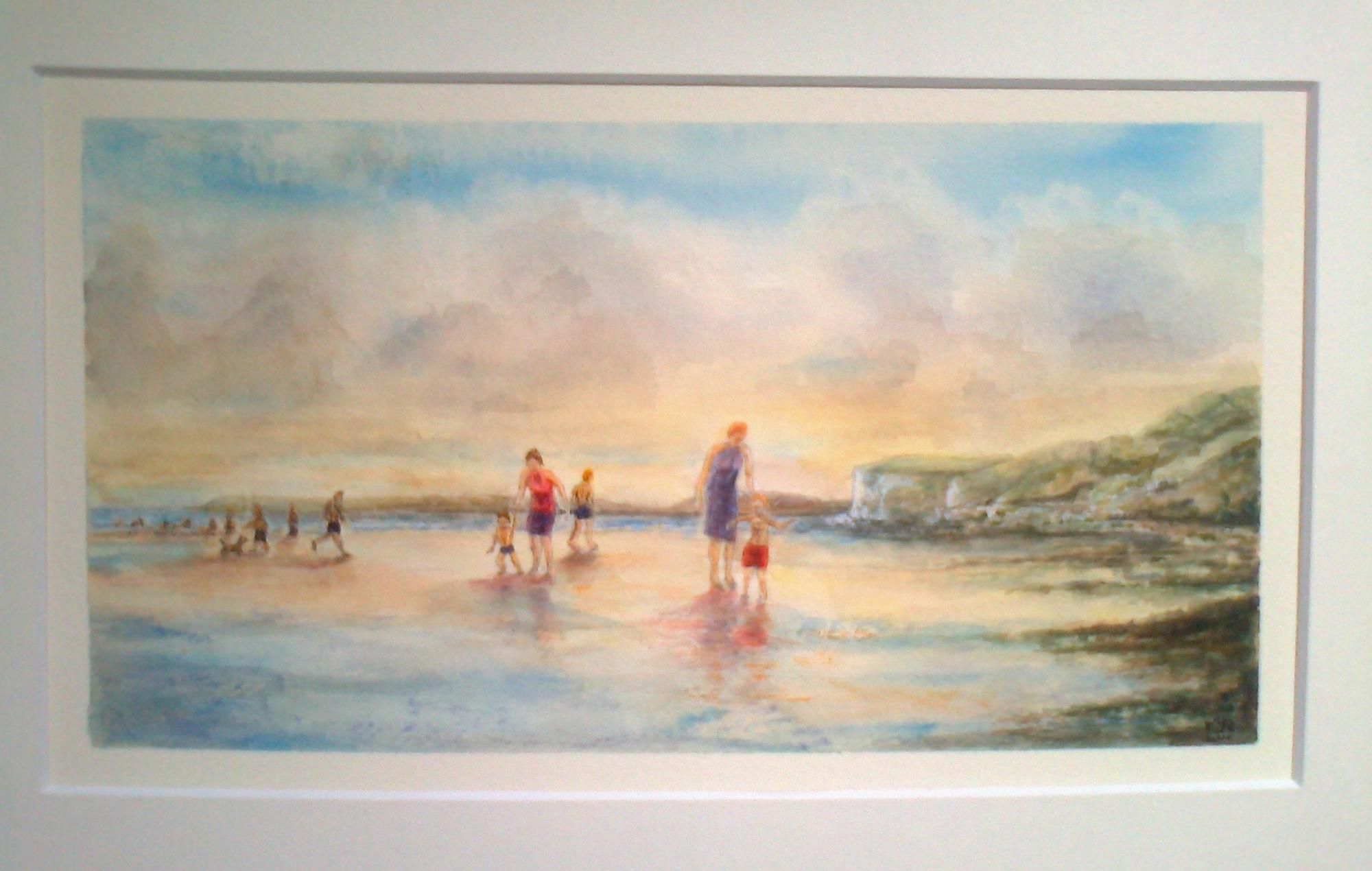 """PENDINE SANDS"" £85 (Framed)"