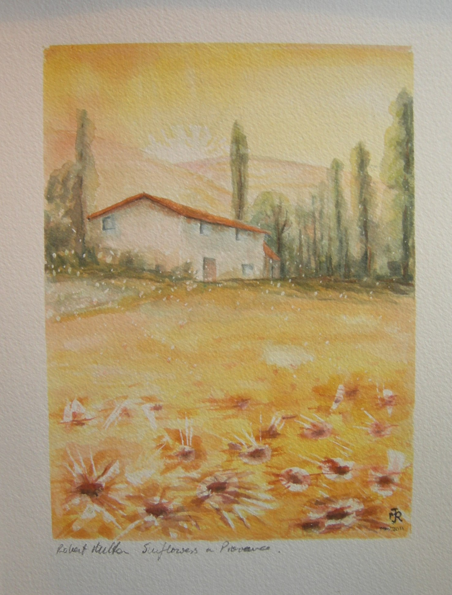 """SUNFLOWERS IN PROVENCE"" £85 (Folio)"