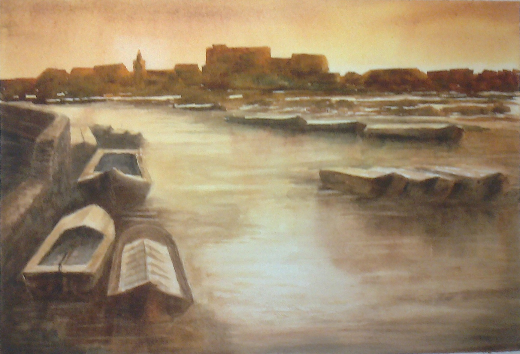 """THE RHINE"" £85. (Framed)"