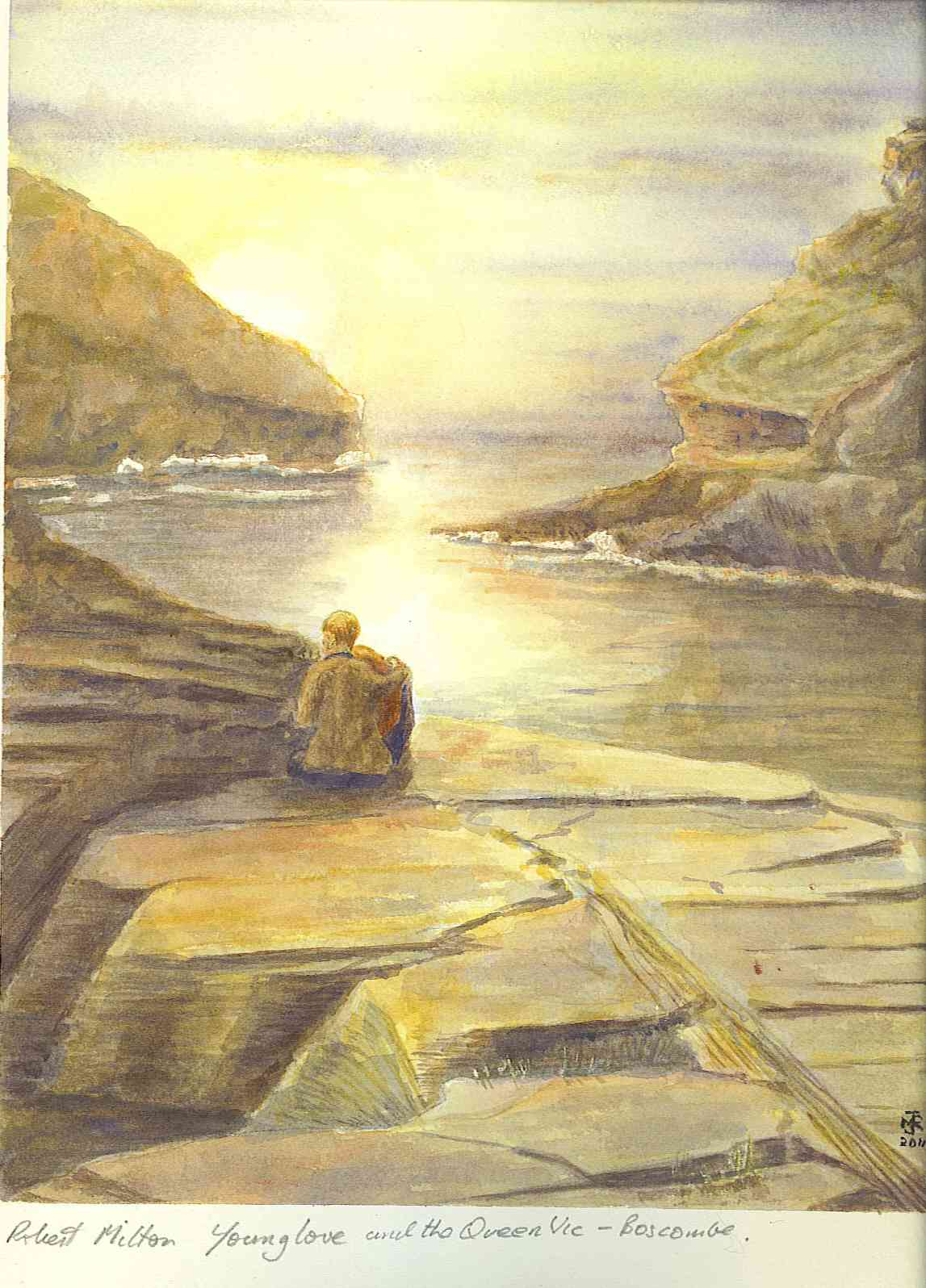 """YOUNG LOVE, BOSCASTLE"" £185 (Framed)"
