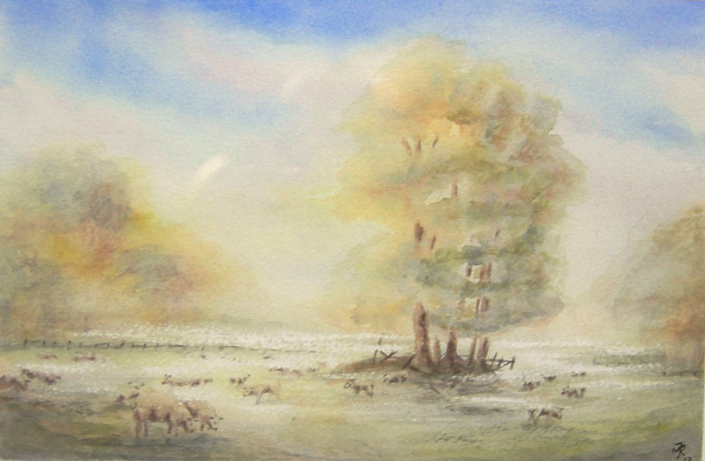"""MISTY MORNING, II"" £135 (Framed)"