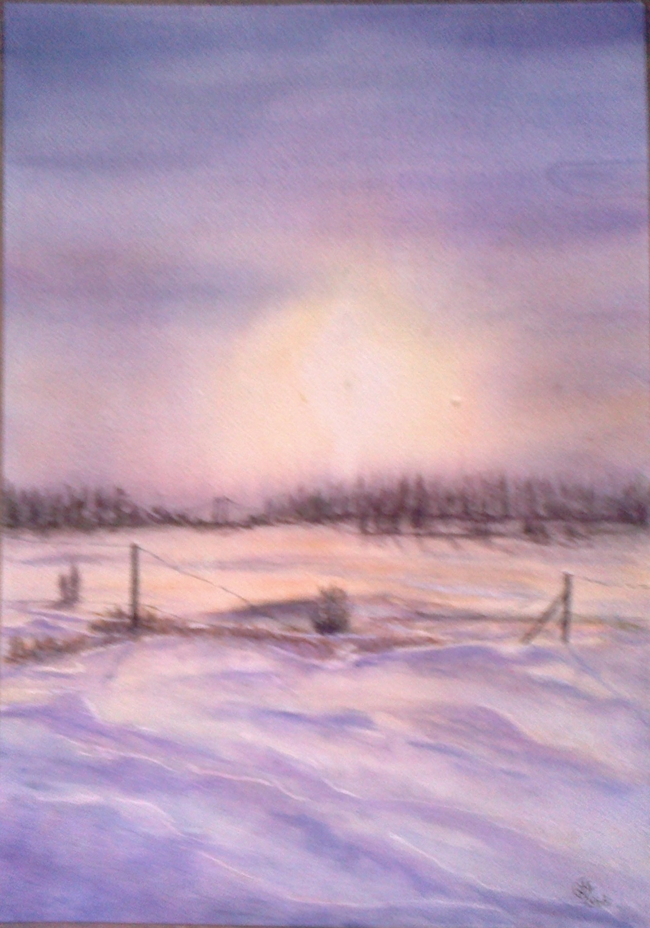 """WINTER SNOW, DARTFORD"". SOLD"