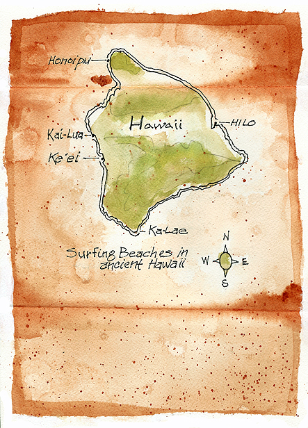 ANCIENT HAWAIIAN SURFING SITE, THE BIG ISLAND