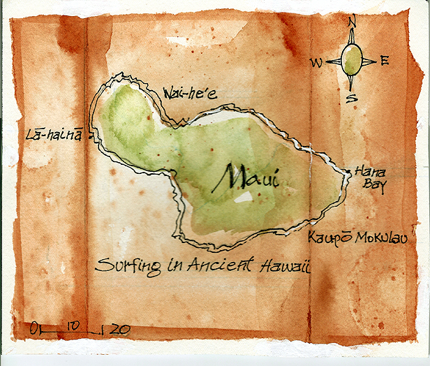 ANCIENT HAWAIIAN SURFING SITES, MAUI
