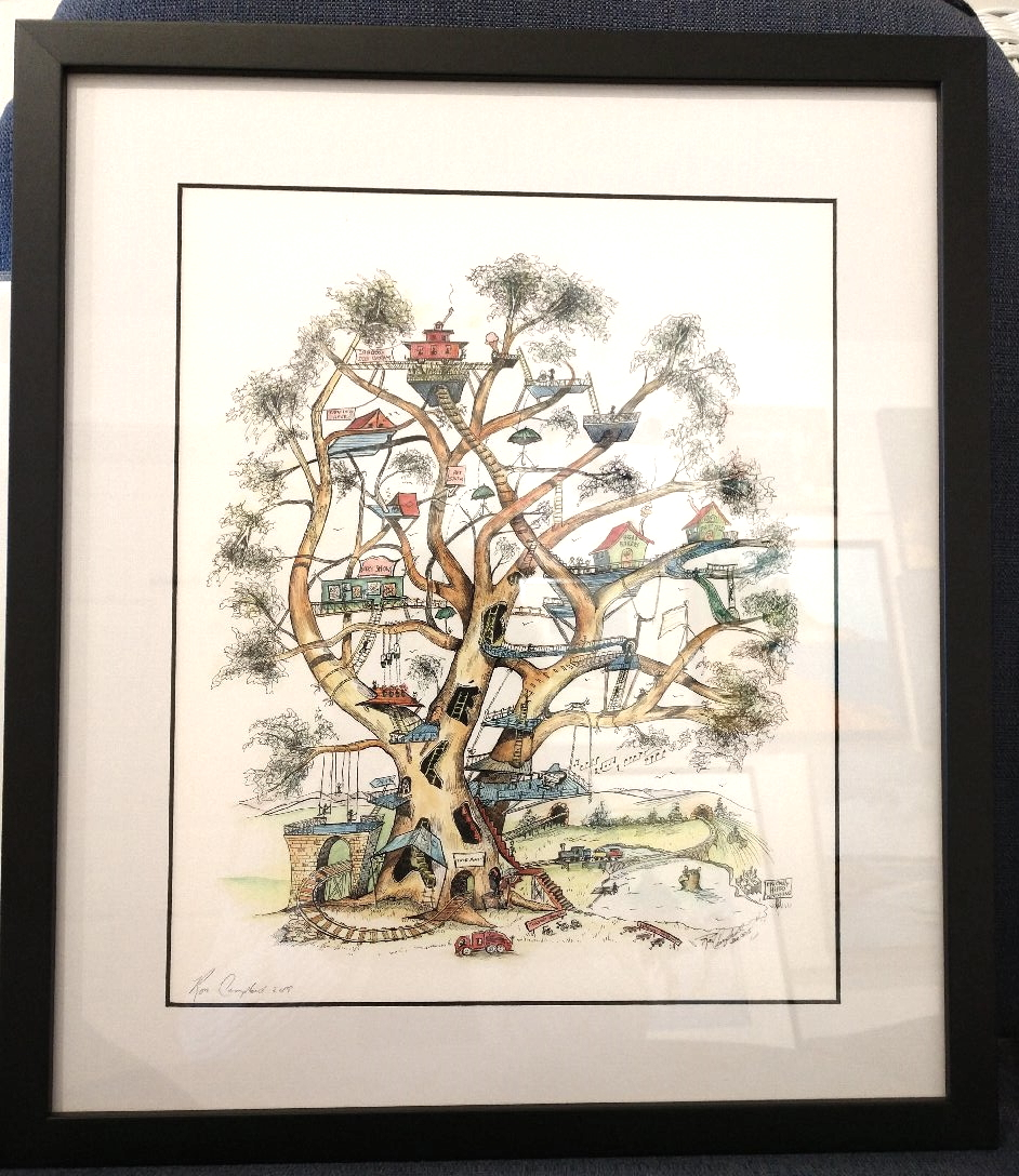 """Enchanted Branches"", framed $285"