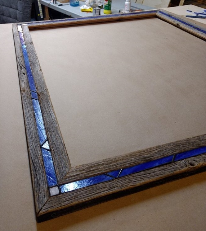 Stained Glass Barnwood Frame