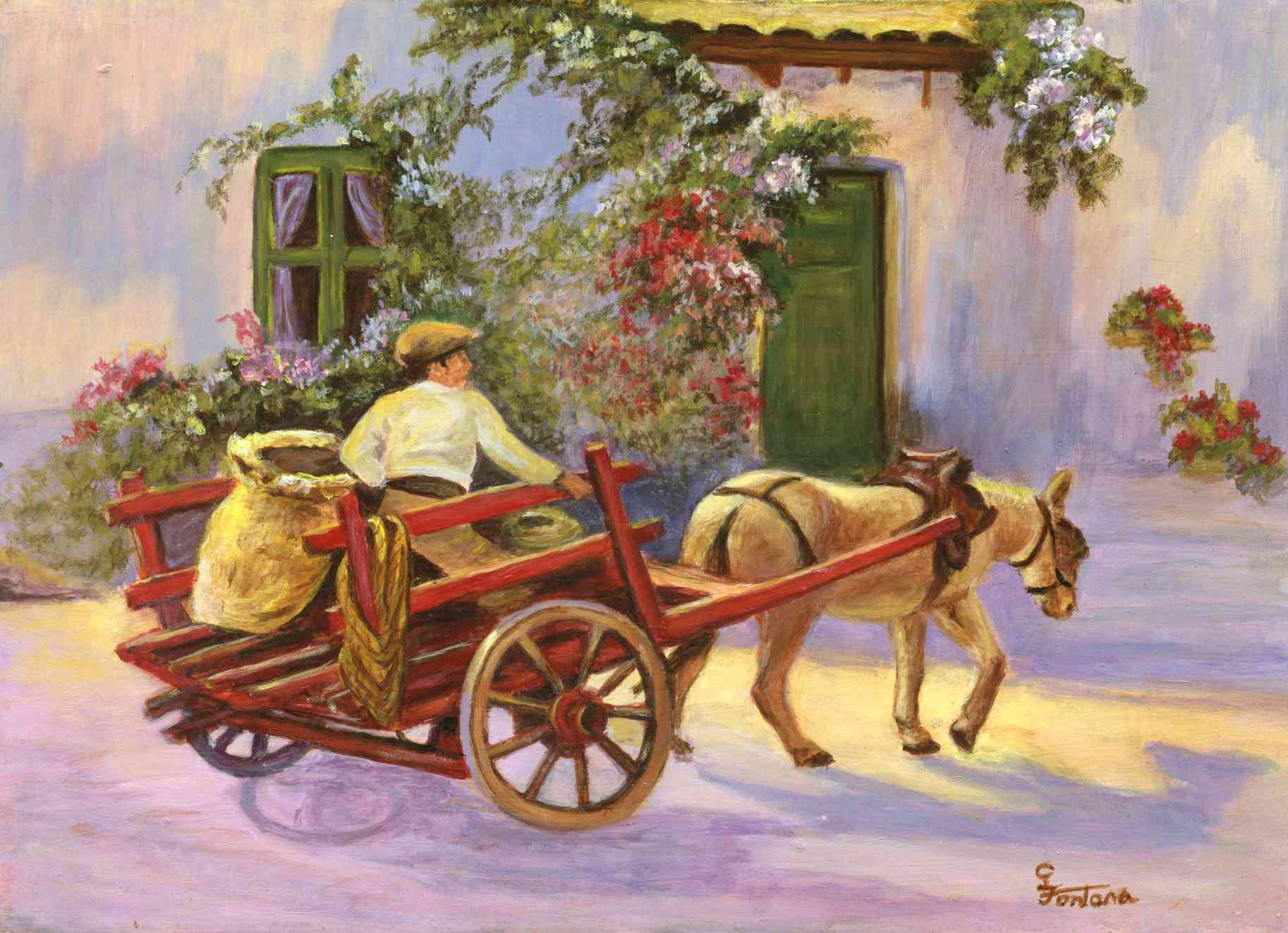 """The Boy in the Donkey Cart"""