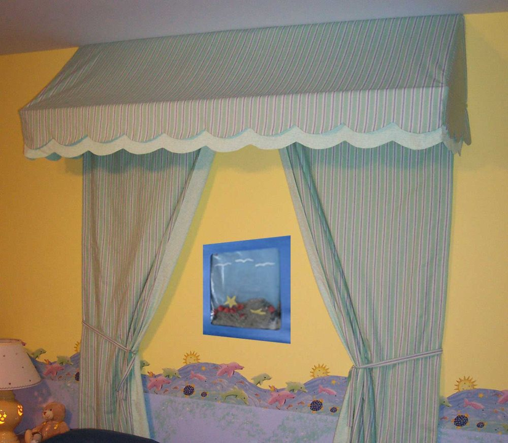 Awning Valance over Bed