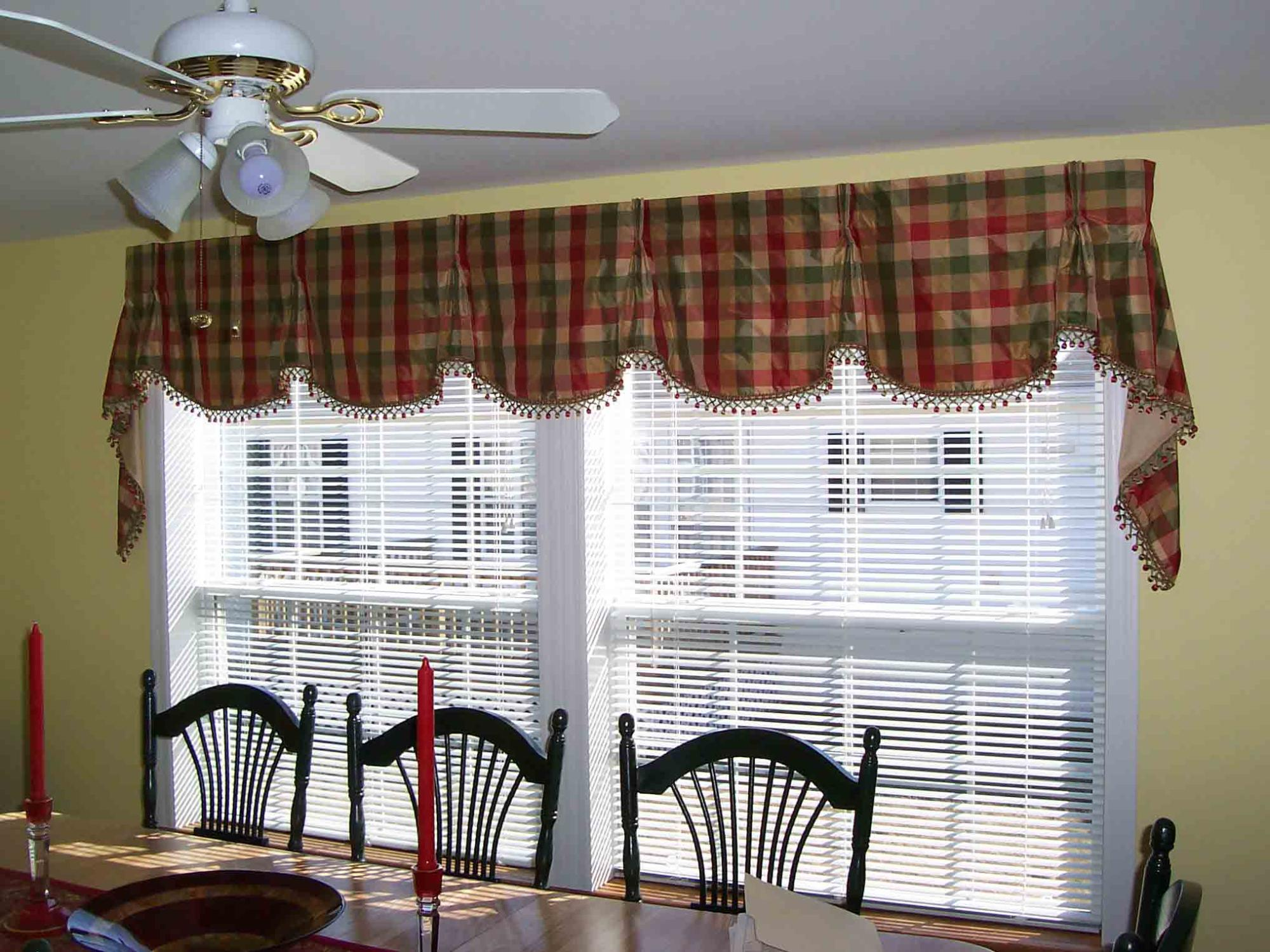 Pleated Valance with ball fringe