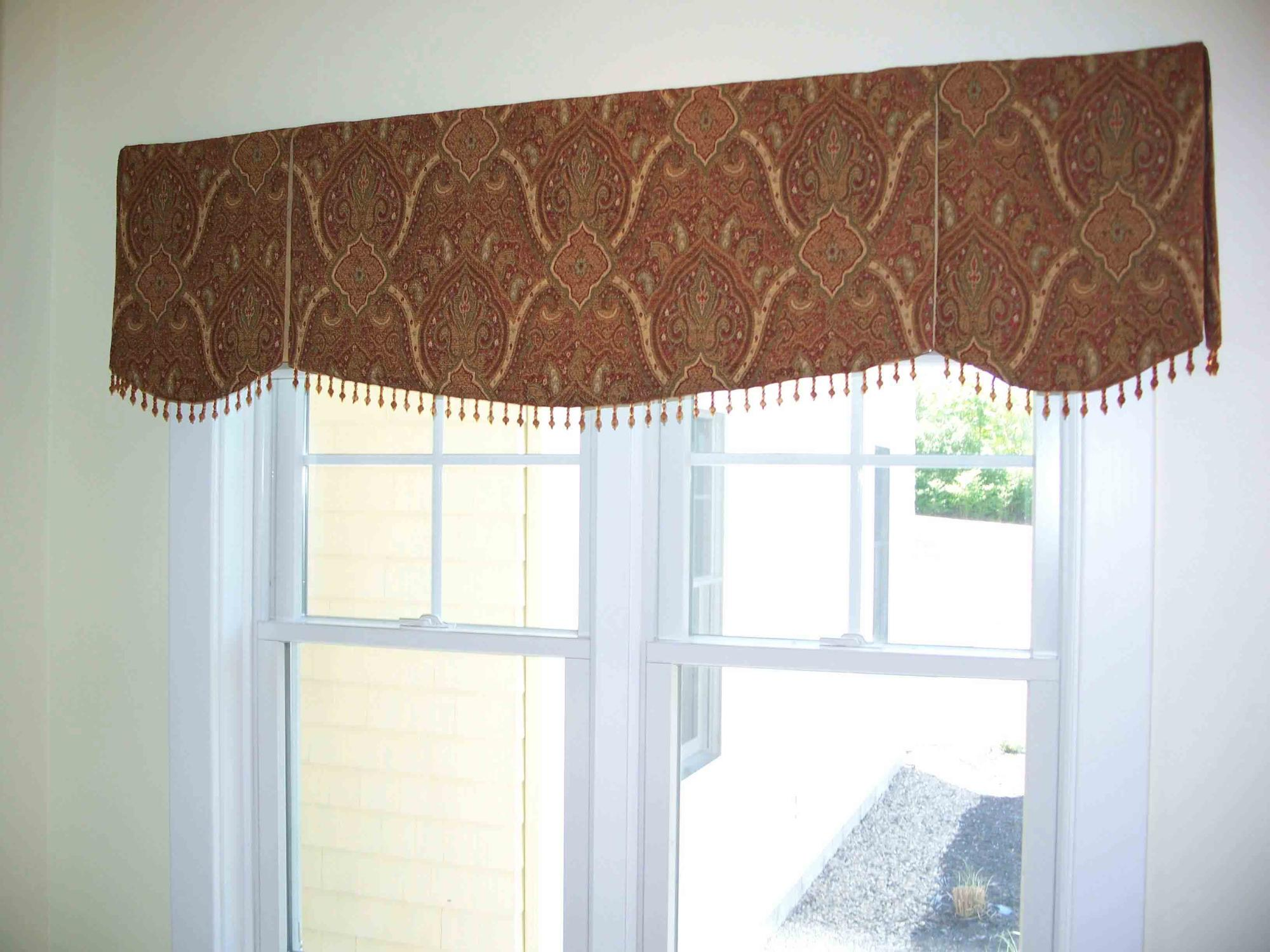 Soft Cornice with contrast pleats and Beaded edge