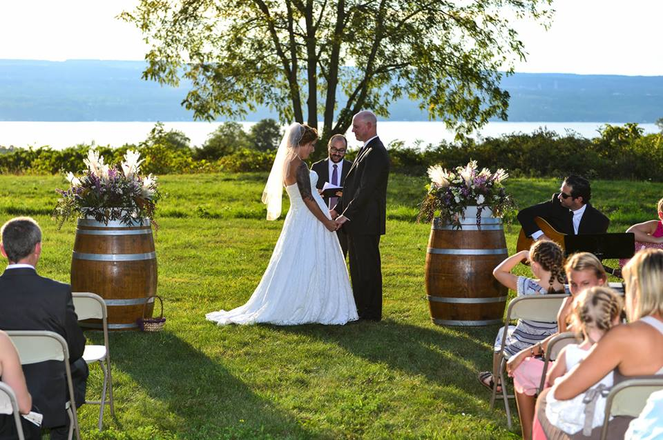 Wedding with Seneca Lake view