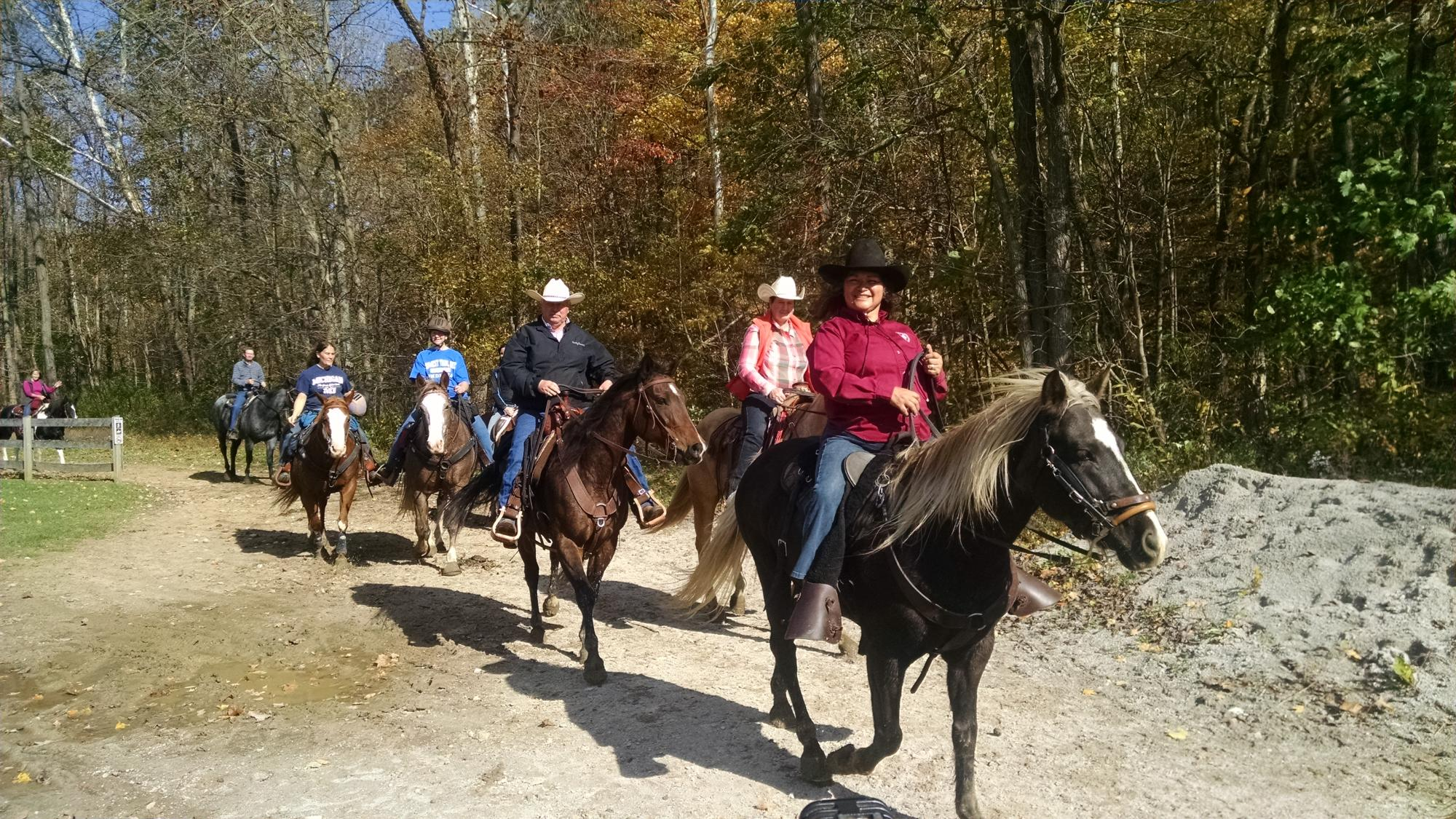 Riders who join the Trail Club receive discounted trail rides