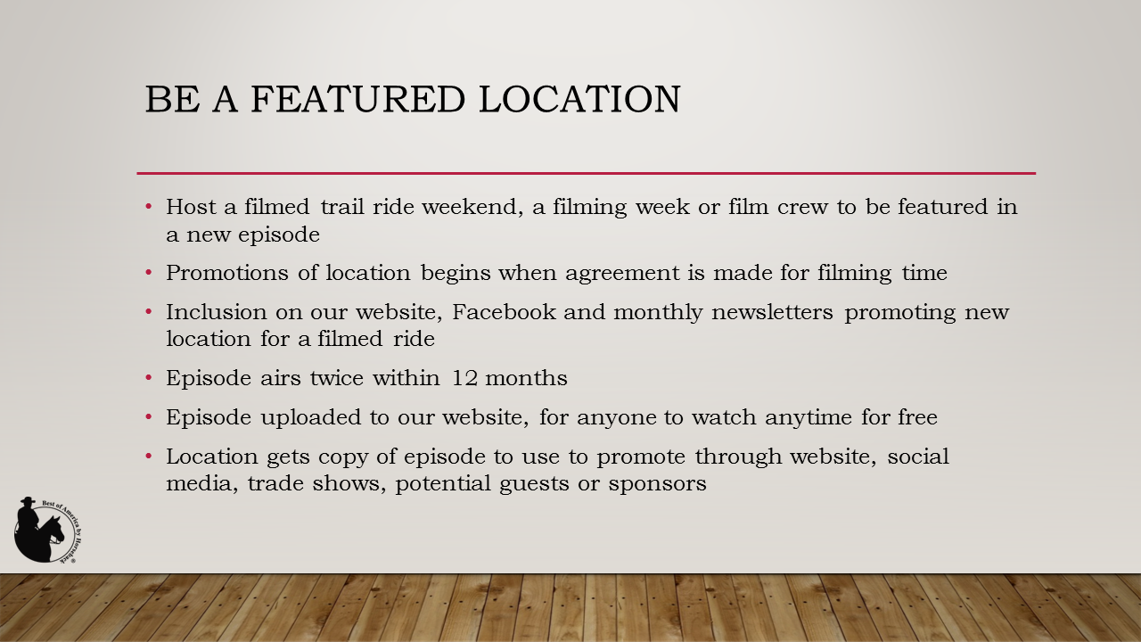 Be a Featured Location