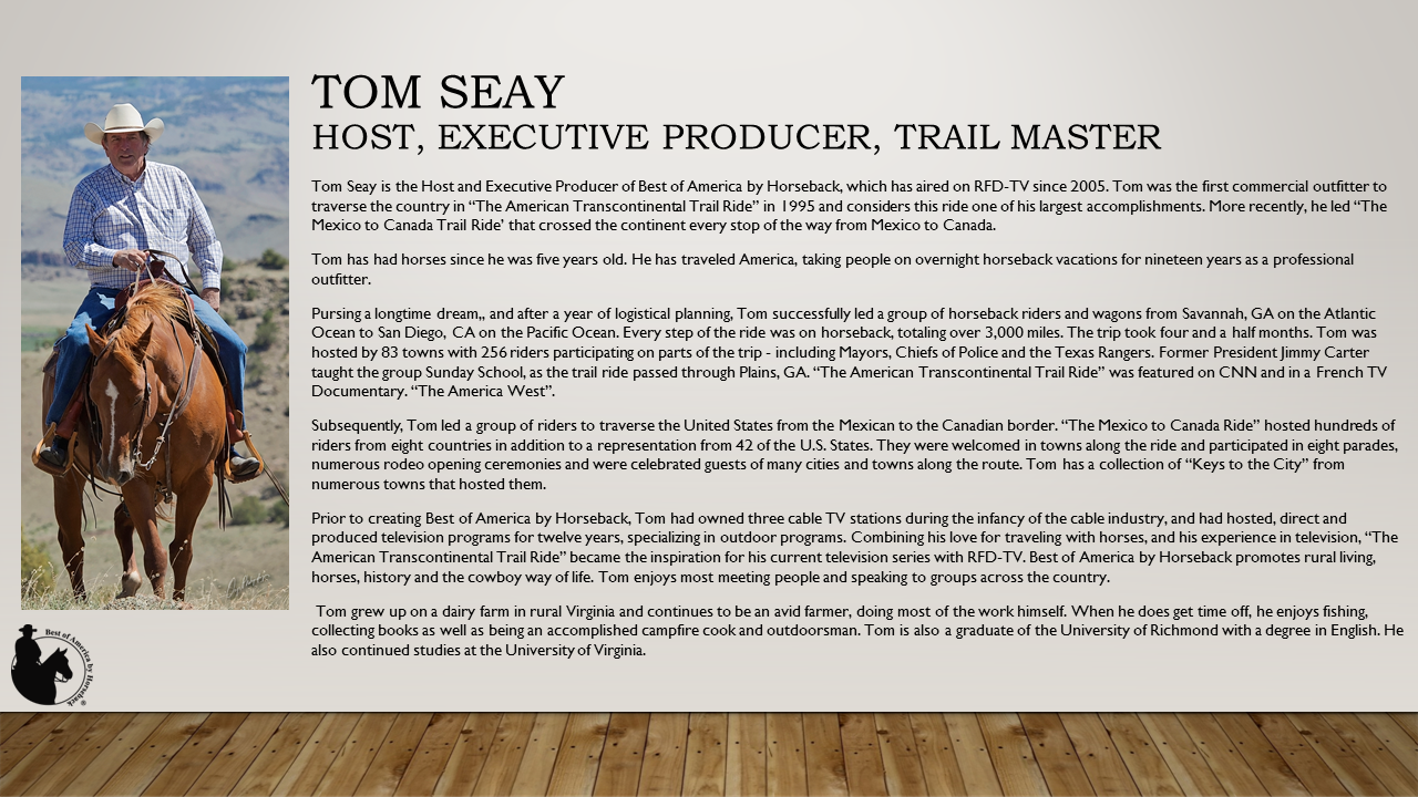 About Host, Tom Seay