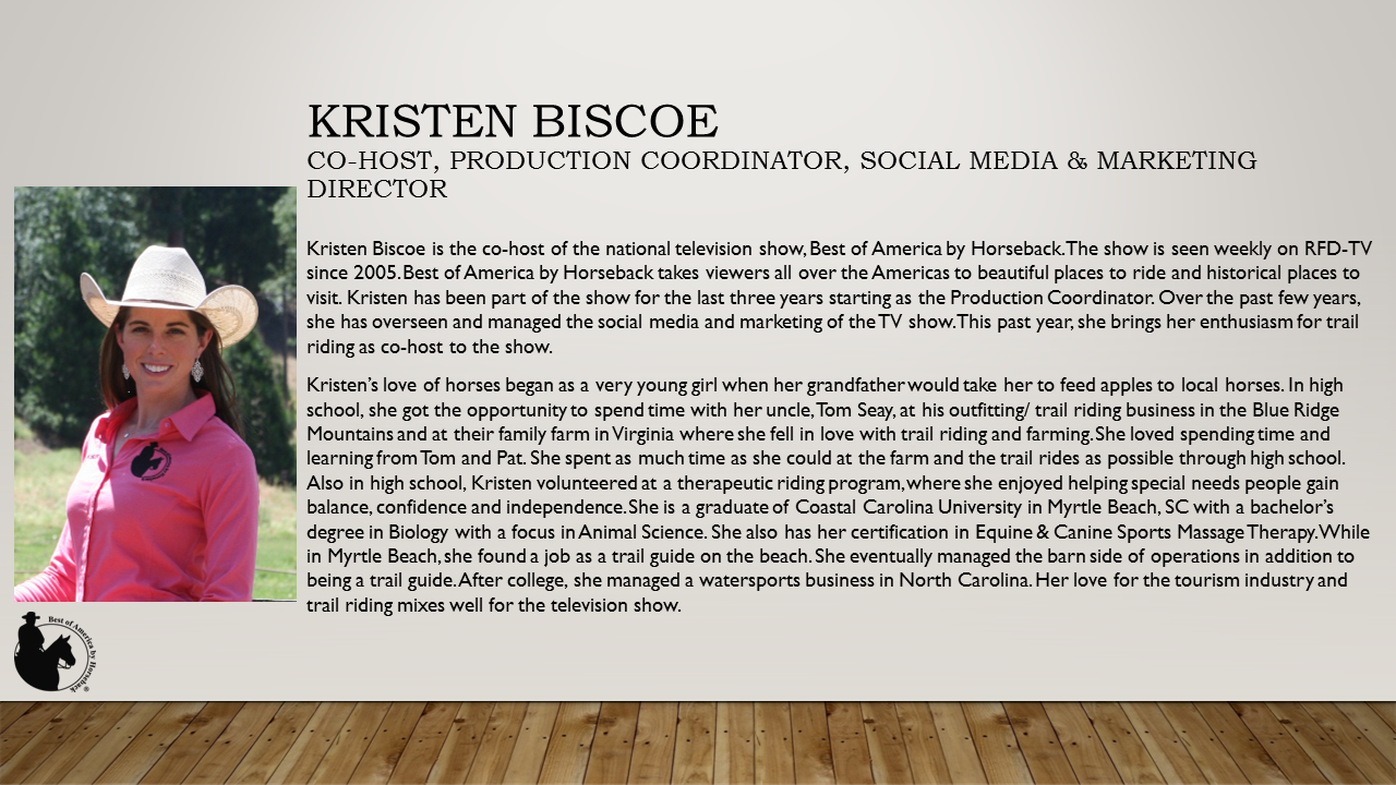 About Co-host, Kristen Bisoe