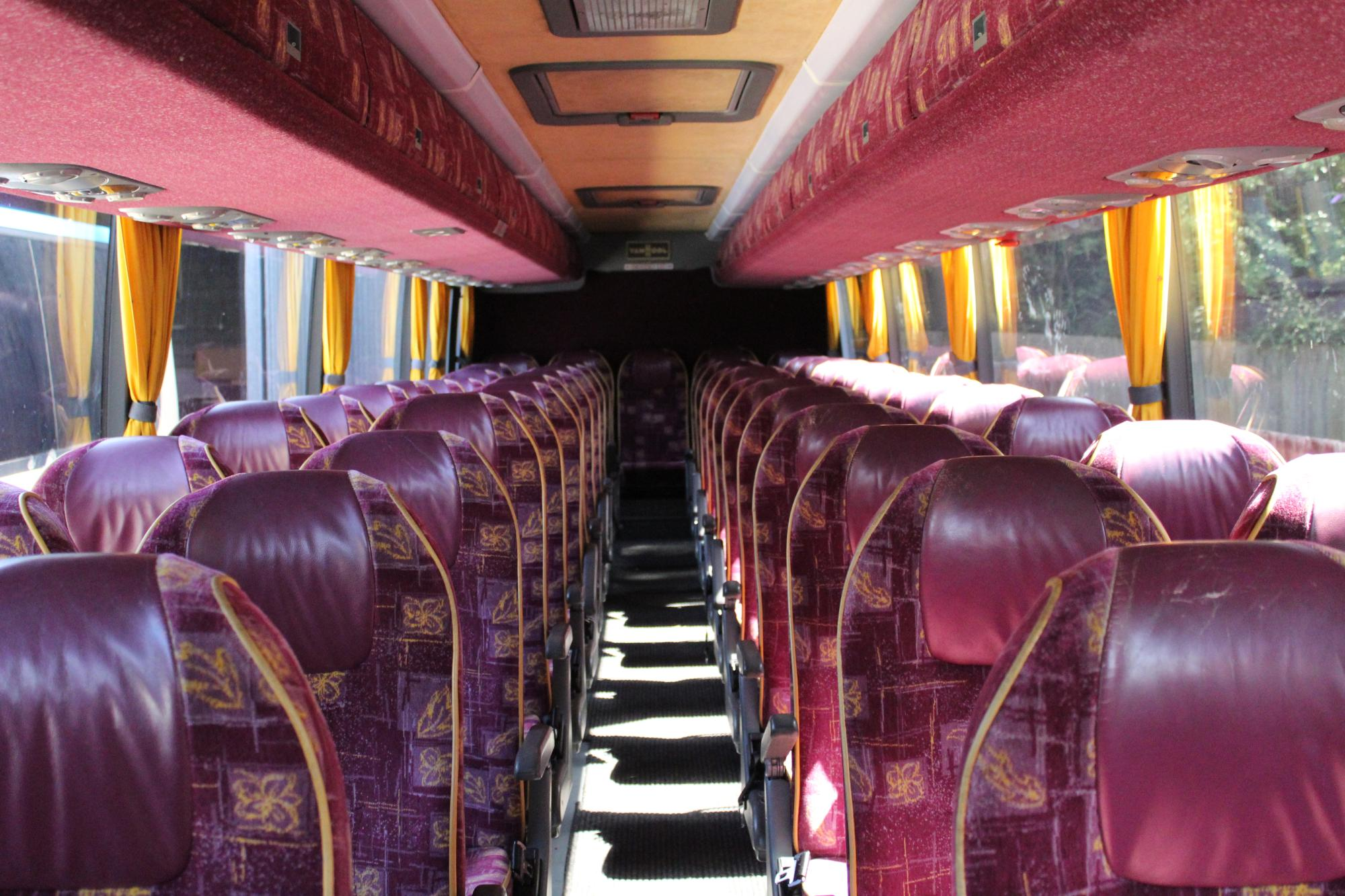 Interior of 53 seater