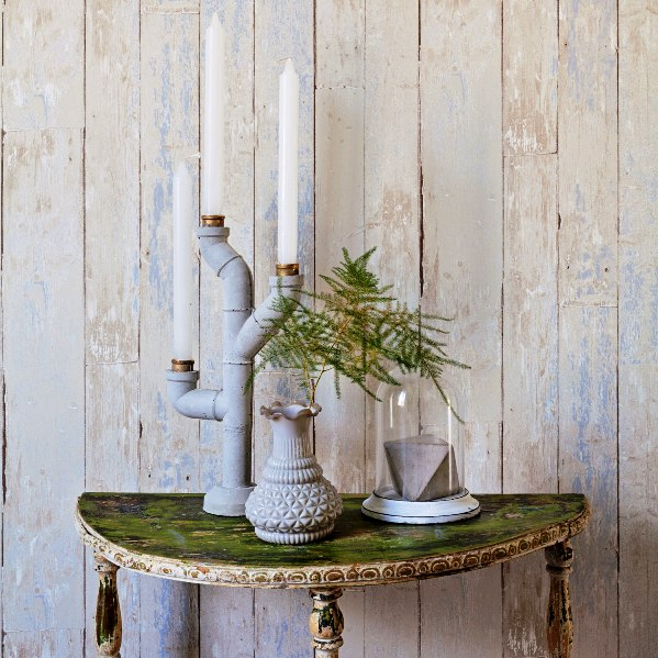 Faux weathered wood
