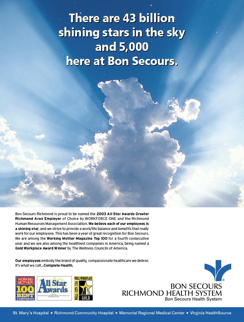 Bon Secours Richmond Awards Ad