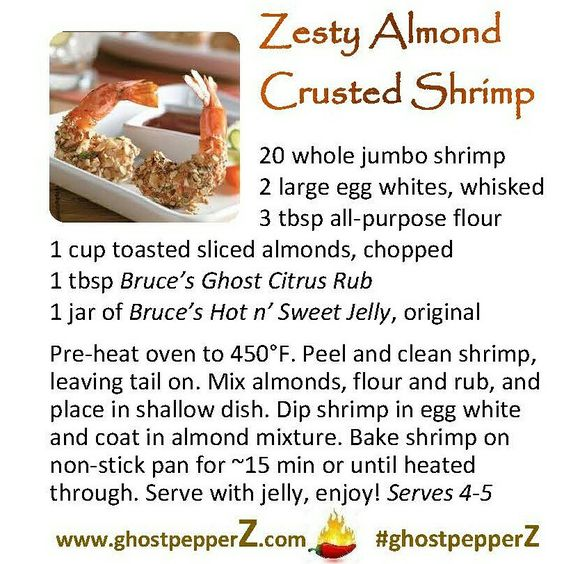 spicy almond crusted shrimp recipe