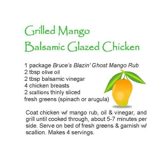 grilled mango balsamic glazed ghicken