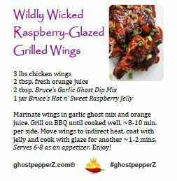 Wildly Wicked Raspberry-Glazed Grilled Wings