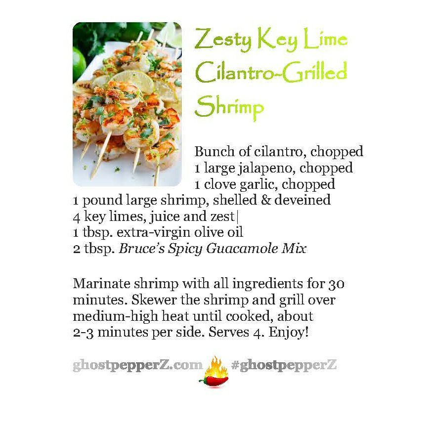 Zesty Key Lime Cilantro-Grilled Shrimp
