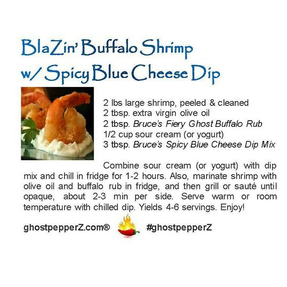 buffalo shrimp with blue cheese recipe