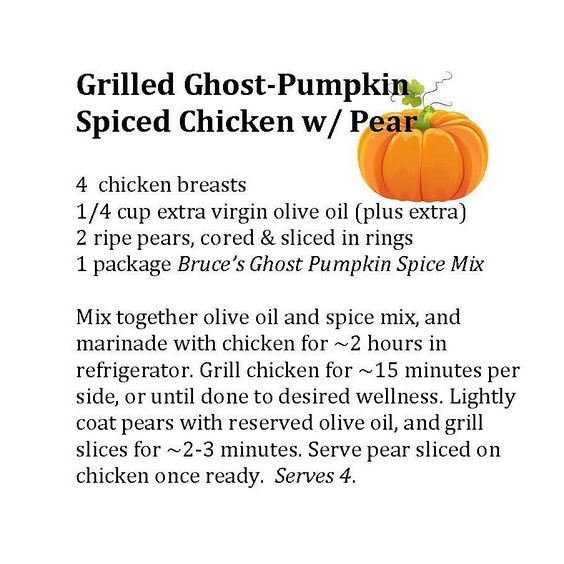 grilled ghost pumpkin spiced chicken recipe