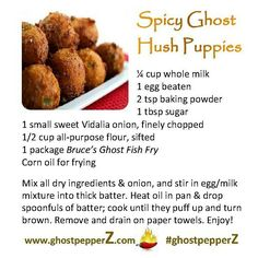 spicy ghost pepper hush puppies recipe