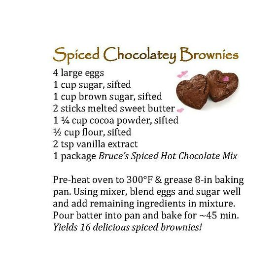 spicy chcolatey brownie recipe