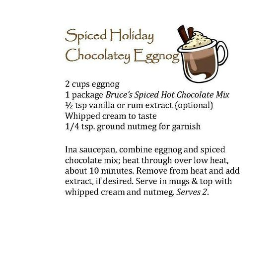 spiced chocolate eggnog recipe